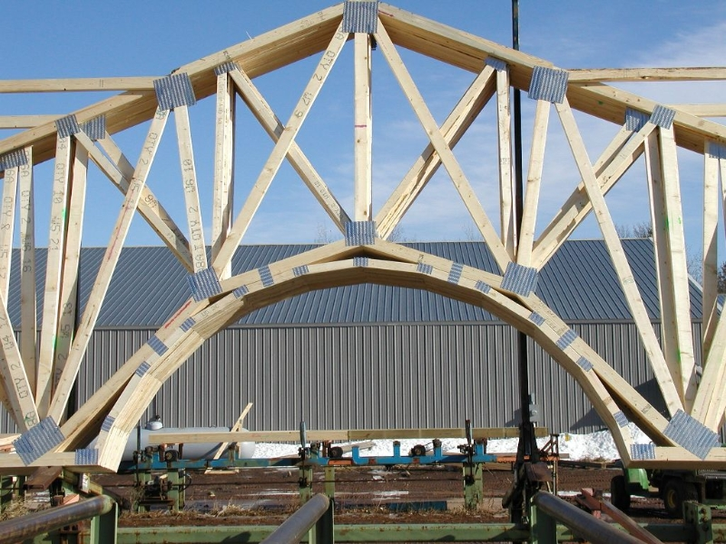 barrel roof trusses home design